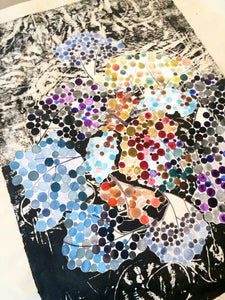 Gan Eden art of living collage dots painting