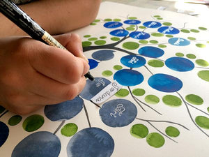 The making of an Ancestry Family Tree original painting
