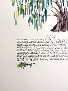 CUstom ketubah commission artwork