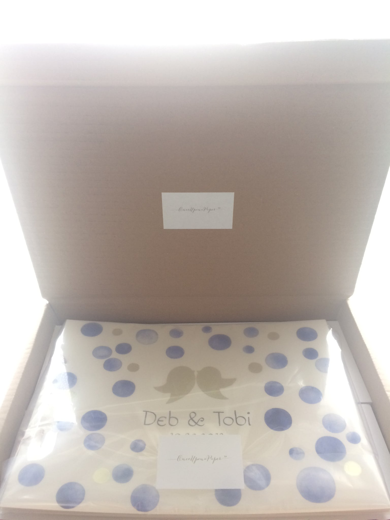 Packaging for a handpainted watercolor wedding album