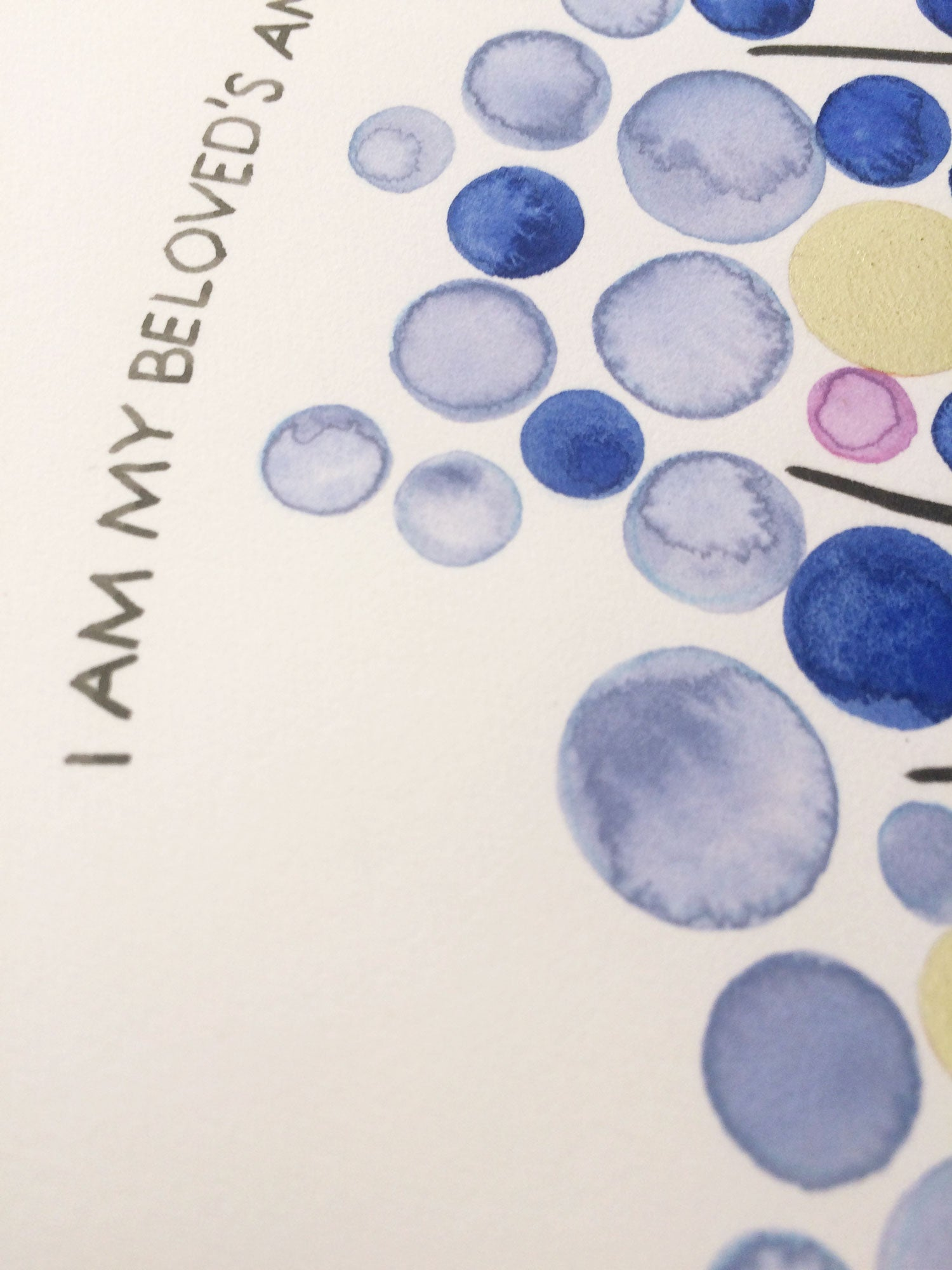 Watercolor beloved ketubah