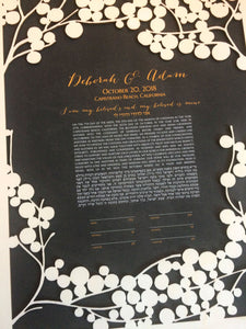 Papercut ketubah for your Jewish wedding