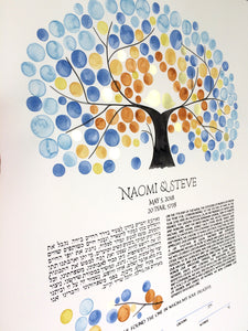Original Watercolor Ketubah painting