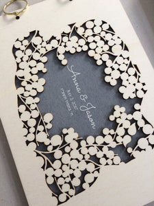 WOODCUT KETUBAH AND MATCHING GUESTBOOK ALBUM - reviewed by Jason L