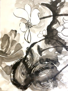 Ink brush painting by Elena Berlo sumie