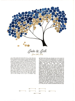 Modern Painted Ketubah and Signature Guest Book - Reviewed by Jade Sloan