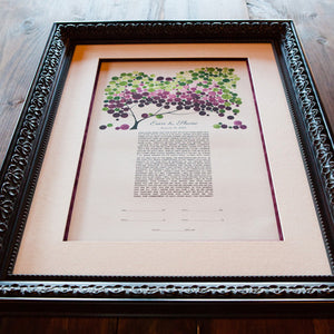 ONCEUPONAPAPER KETUBAH ARTWORK - REAL WEDDINGS - ERICA & SHANE