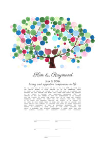 Personalized Modern Ketubah Giclée art work - Reviewed by Kim Feigin