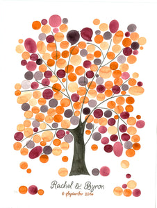 Wedding Guest Book Alternative Watercolor Painting FRAGRANT ASH TREE - Reviewed by Rachel Latinsky