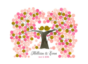 WEDDING GUEST BOOK INDIAN PEACH TREE - Reviewed by Mellissa Ruby