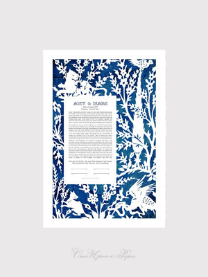 Bespoke Papercut Ketubah - In my beloved Garden