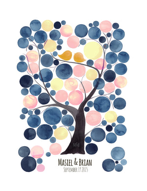 WEDDING GUEST BOOK ALTERNATIVE PRINT RIPE MANGO TREE - Reviewed by MASEY CHACON