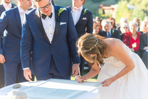 CALLIGRAPHY WATERCOLOR KETUBAH PAINTING - Real Wedding Ashley & JJ