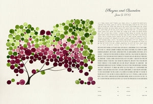 PERSONALIZED GICLEE KETUBAH - Reviewed by Shayna Spiker