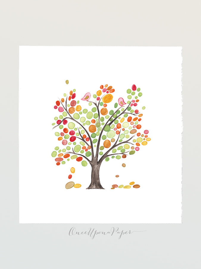 Wedding Guestbook SPRING LOVE BIRDS TREE - Reviewed by Jeni Hobbs