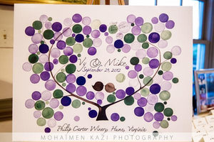 ONCEUPONAPAPER GUEST BOOK - REAL WEDDINGS - VY & MIKE