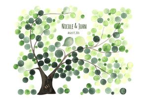 CUSTOM WEDDING GUEST BOOK OZOROA CASHEW TREE - Reviewed by Nicole Adams