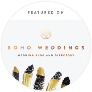 Featured on www.boho-weddings.com