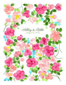 RUSTIC WEDDING GUEST BOOK FLOWER GARDEN DAHLIAS - Reviewed by Sandra Throckmorton