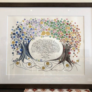 FOUR SEASONS KETUBAH Watercolor Ketubah commission - reviewed by Meghan Bohren