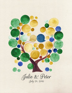 DIY Printable Wedding Guest Book Alternative - Reviewed by Julie Wood