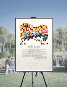 Multicolor Ketubah Personalized Jewish marriage - Review by SDimirsky