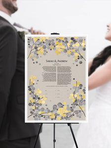 Modern Ketubah Floral Branches - review by Lauren Lynch