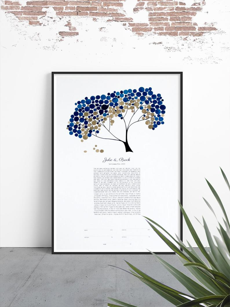Modern KETUBAH Safari Tree of Life - Review by kjleclair4