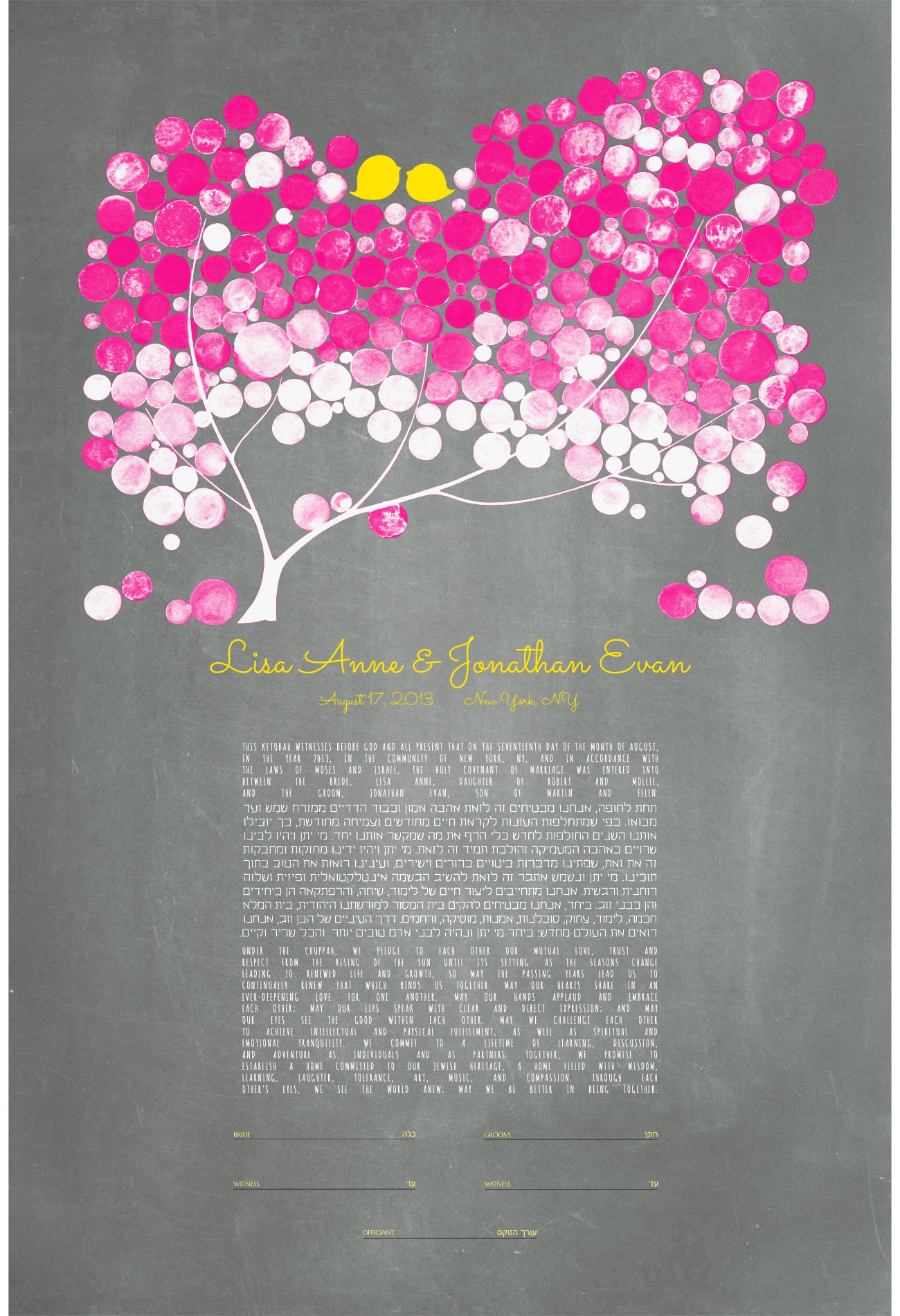 MODERN KETUBAH YELLOW BLUSH - Reviewed by Lisa Bottiglieri