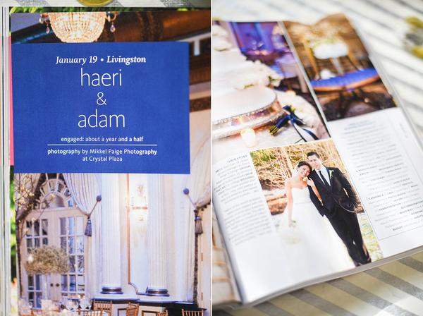 We've been featured in THE KNOT NEW JERSEY MAGAZINE - OnceUponaPaper Real Weddings - HAERI & ADAM