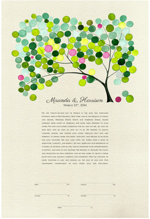 MODERN WEDDING KETUBAH TREE OF LIFE - Reviewed by Miranda & Harrison Squire