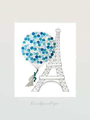 INTRODUCING The Eiffel Tower Beloveds Guestbook Design
