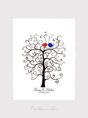 Fingerprint Wedding Tree Guest Book alternative - thumbprint ready