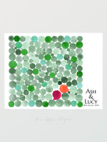 Load image into Gallery viewer, Wedding Guest Book art print - Penny Tiles