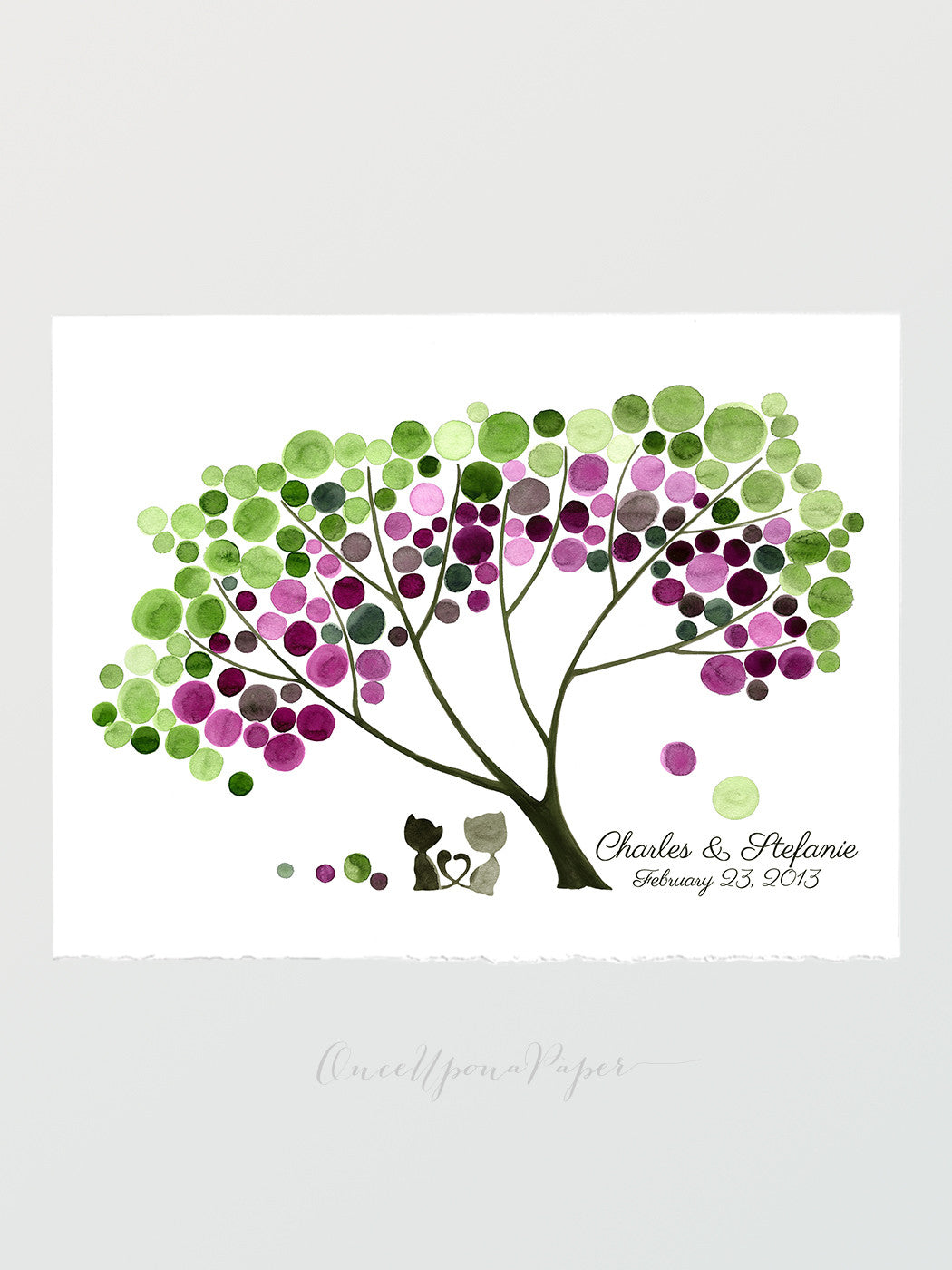 Wedding Gift Favors Custom Names Gift Tree Print Wall Decor