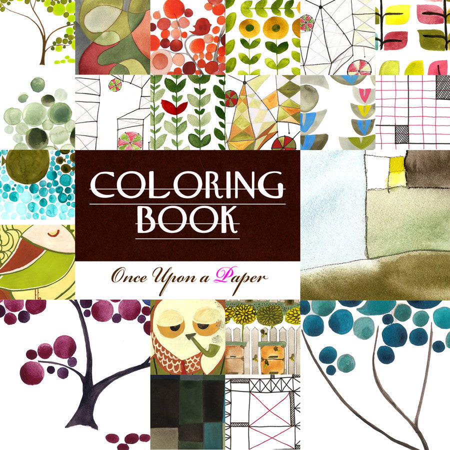 Printable Coloring Book by OnceUponaPaper