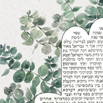 Load image into Gallery viewer, Custom Eucalyptus Ray Ketubah Artwork Commission