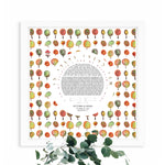Load image into Gallery viewer, Gazebo Garden Ketubah Print - Jewish weddings - Custom modern Ketubah