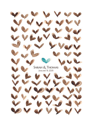 Wedding Guest Book Happy Butterflies - 100 Guest Signatures