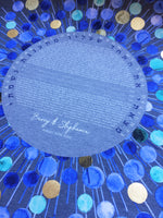 Load image into Gallery viewer, Golden orbs Blue Bliss Ray > Mid century modern Ketubah