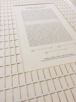Load image into Gallery viewer, Ketubah Papercut White City Windows