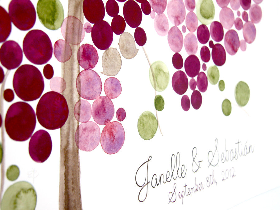 Rustic Wedding Guest Book Alternative GRAPE VINE ROSE