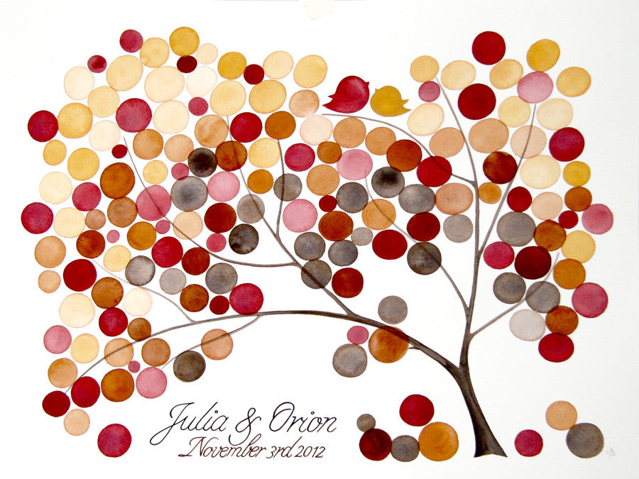 Unique Wedding Guest Book Alternative - 225 guest signatures Custom Signature rustic wedding guest book tree,  Our wedding Tree