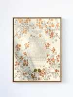 Load image into Gallery viewer, Holy Hamsa Ketubah <> Bronze watercolor painting and calligraphy
