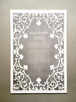 Load image into Gallery viewer, Romantic Frame Ketubah Papercut - Modern Ketubah Print with off white Papercut layer