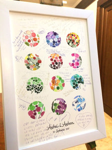Wedding Guest Book art Print - Polka Dots