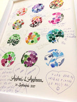 Load image into Gallery viewer, Wedding Guest Book art Print - Polka Dots