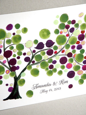 Wedding GuestBook Mother Daughter Tree