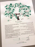 Load image into Gallery viewer, Hand painted Greenery Ketubah Watercolor Calligraphy
