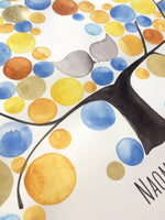 Load image into Gallery viewer, Jelly Beans Ketubah Watercolor Painting Gold leaf proud